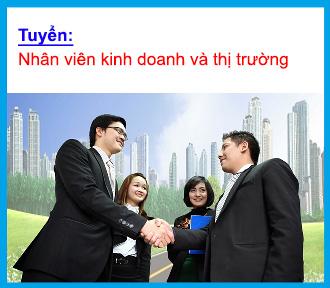 Tuyển dụng nhân viên kinh doanh và thị trường