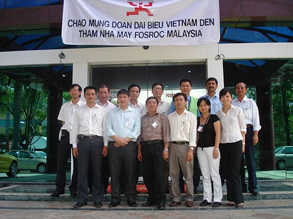 Ban Lãnh đạo VITD tham quan trụ sở Fosroc tại Malaysia
